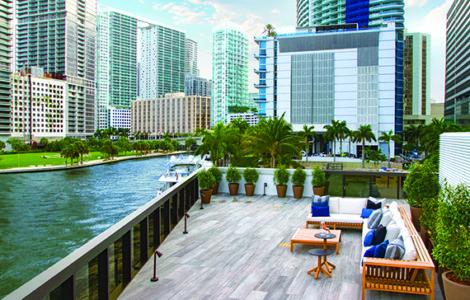 Inside the multimillion-dollar Aston Martin Residences sales center in downtown Miami