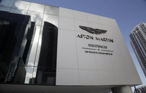 How do you launch an Aston Martin luxury condo tower? With sports cars and helicopters